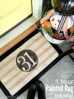How to Paint a Rug in Less Than an Hour [and free template]!