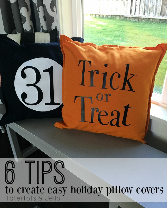 Easy Holiday DIY Pillow Covers