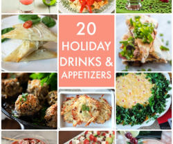 Great Ideas — 20 Holiday Drinks and Appetizers!