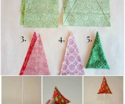 Happy Holidays: DIY Fabric Trees