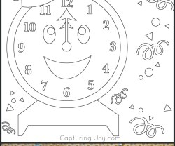 Happy Holidays: New Years Eve Coloring Pages!