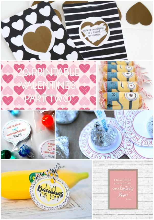 20 Printable Valentines Part Two