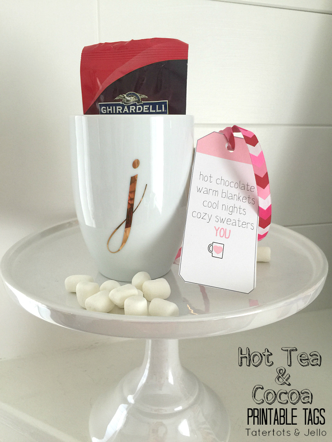 hot tea and cocoa free printables