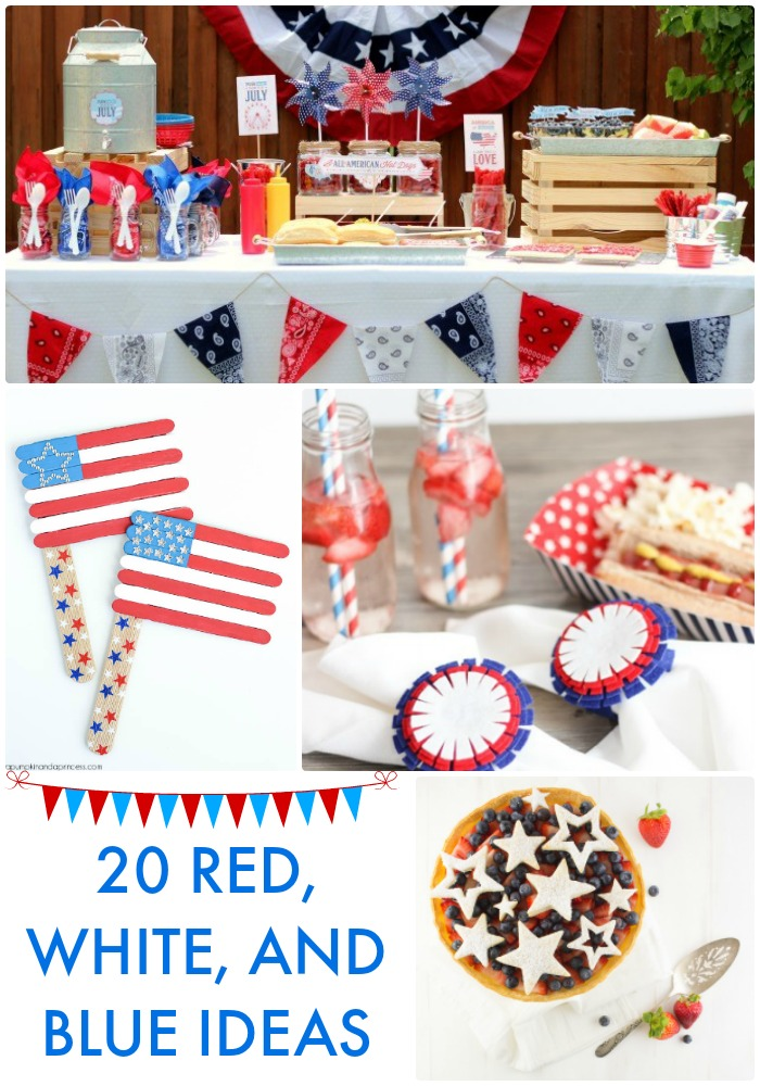Great ideas 20 red white and blue ideas - Red white and blue party ideas ...