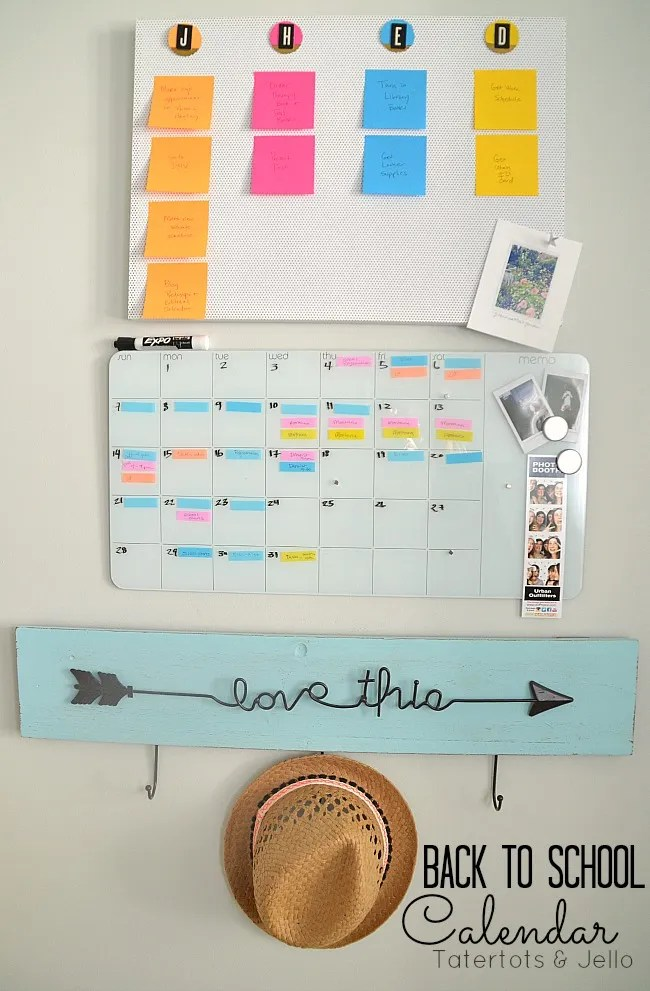 Diy Calendar For School : Diy back to school calendar system using post it notes