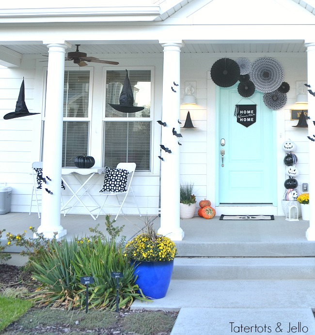 witching hour porch do it yourself ideas. Lots of ideas on how to create an adorable front porch with a witch theme.