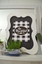 Buffalo Check Be Thankful Thanksgiving Free Printable
