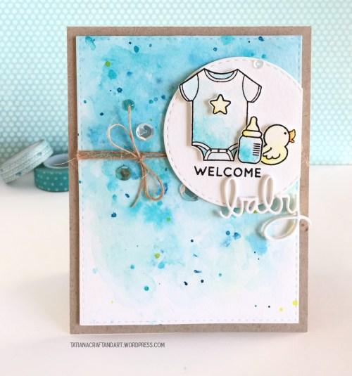 Catchy Welcome Baby Watercolor Card Series Welcome Baby Boy Gift Basket Welcome Baby Boy Balloons