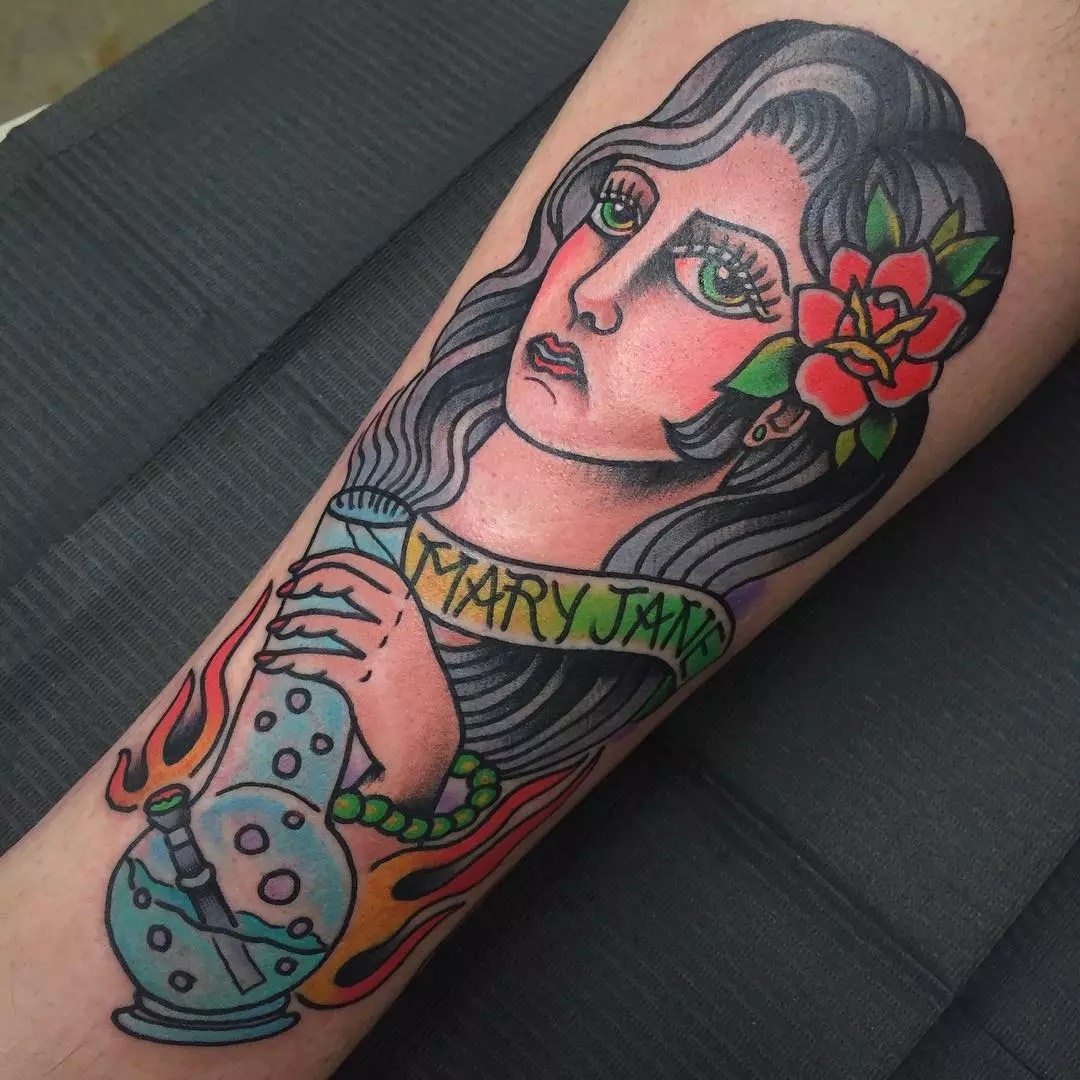 40 Smoking Hot Weed Tattoo Ideas – Are You Ready To Support The Cause? of 9 by Nancy