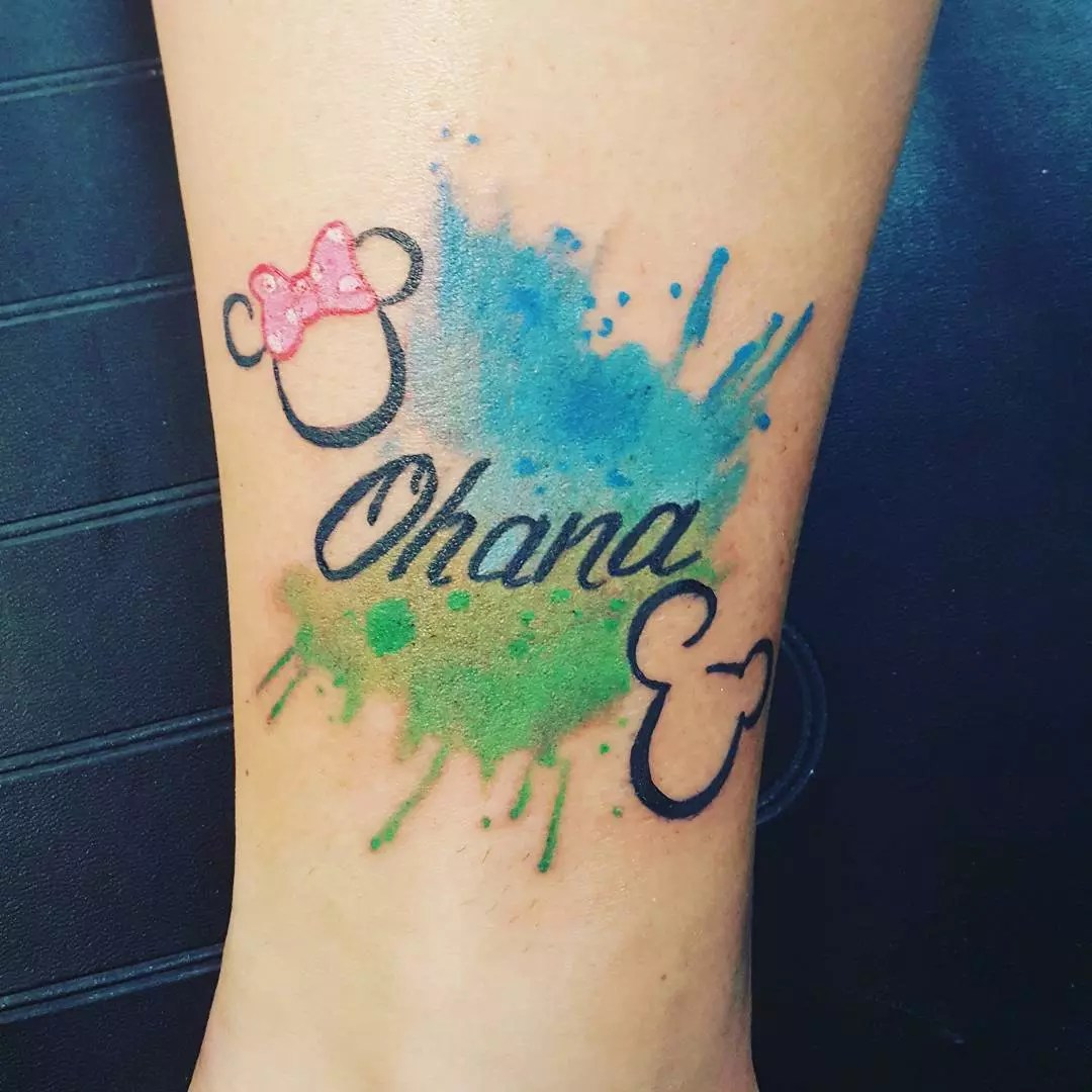 35 Delightful Ohana Tattoo Designs – No One Gets Left Behind of 25 by Jeffery