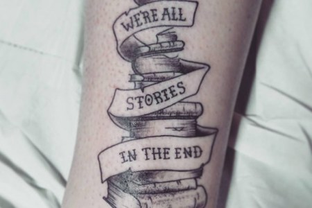 book tattoo design 4