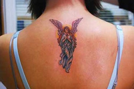 beautiful guardian angel tattoos design on the back y