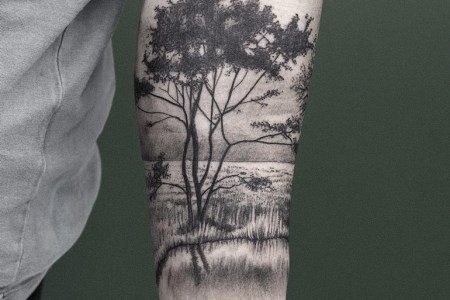 kalmthoutse heide trees water arm tattoo