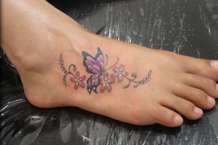 erfly tattoos on foot 2