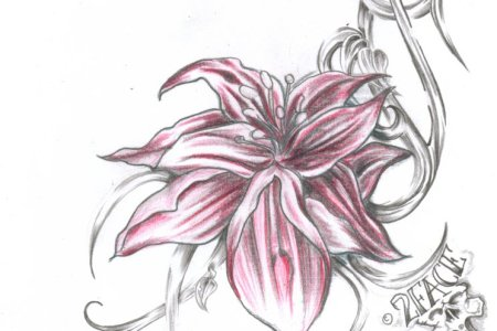 flower tattoo flash 14