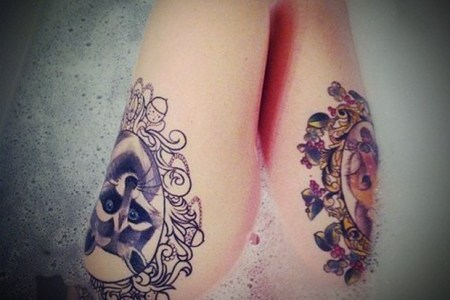 y leg tattoo designs for women 32