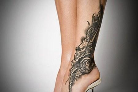 y leg tattoo designs for women 47