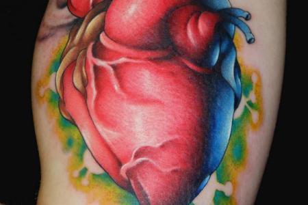 unique heart tattoo design