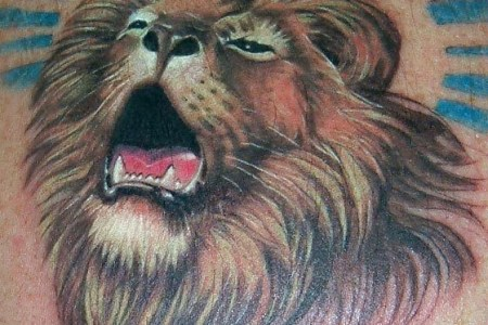 roaring lion tattoo design