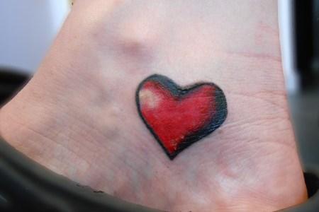 red heart tattoo design