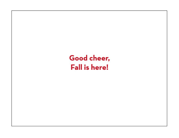Happy Fall Cards - inside