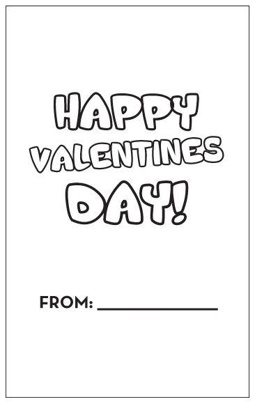 Valentine - card inside