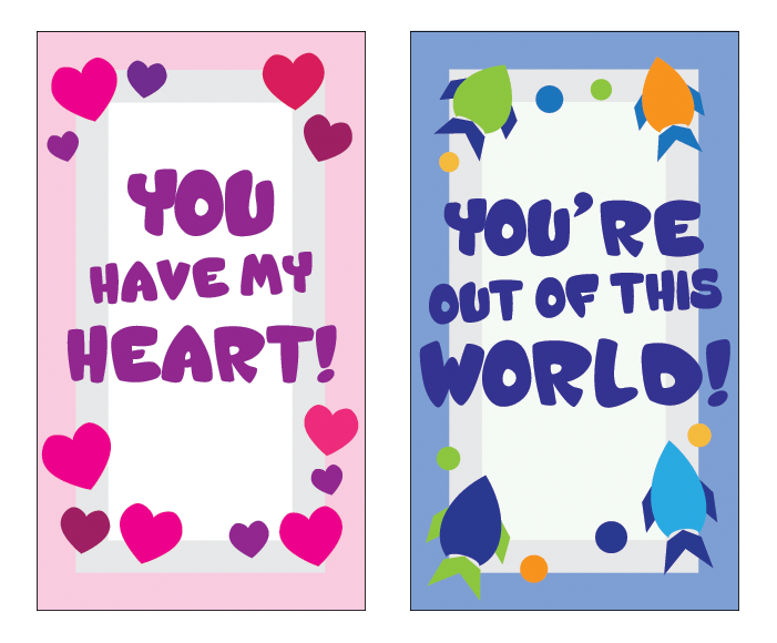 Valentines - card fronts