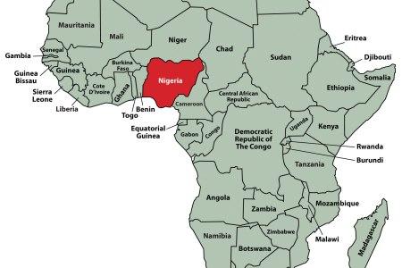 map of africa nigeria