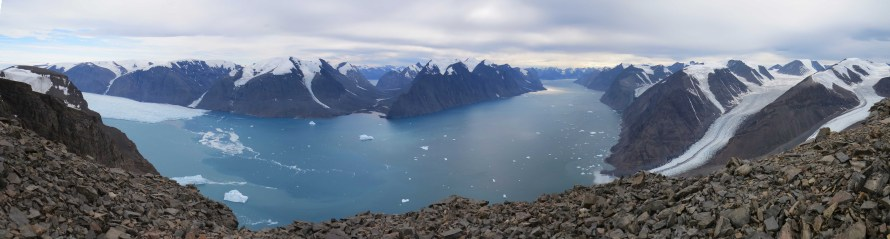 Fjord panorama from the location of one of our team's timelapse cameras.