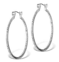 Small Of Diamond Hoop Earrings