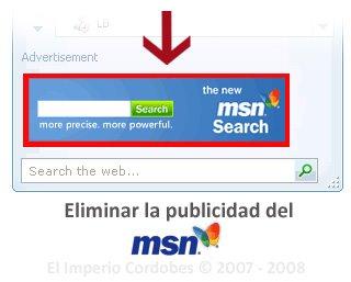 Eliminar publicidad de MSN Messenger