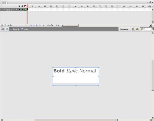 Captura de pantalla de Flash después de hacer doble clic