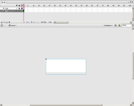 Captura de pantalla de pantalla inicial de Flash