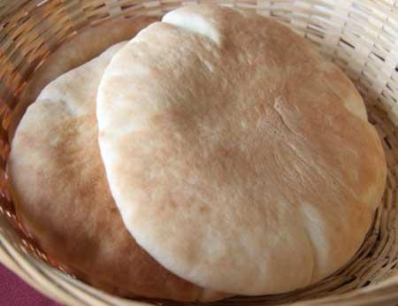 Pan de pita casero