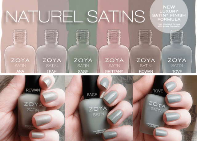 zoya natural satins- swatches and review