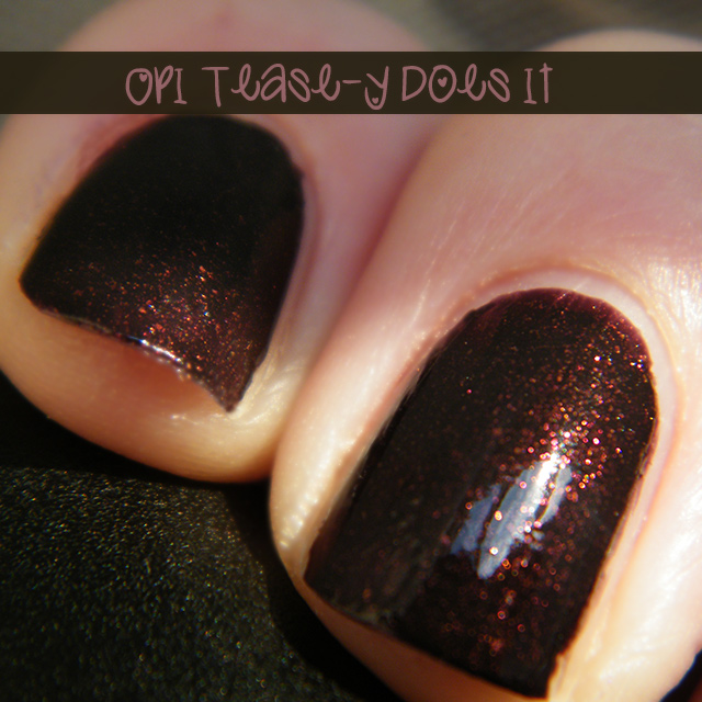 OPI Tease-y Does It Swatch
