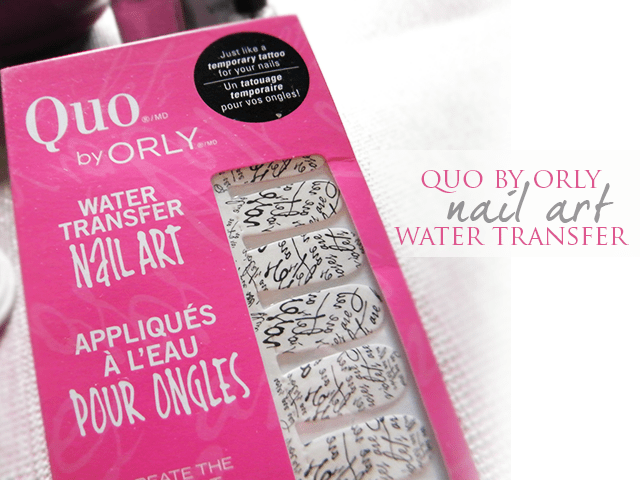 Quo by Orly Nail Art Water Transfers - Packaging