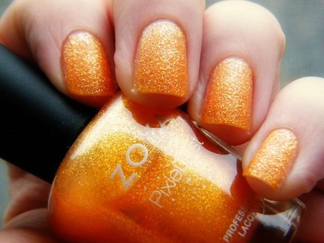 Orange Nail Polish Swatches: Zoya Beatrix PixieDust