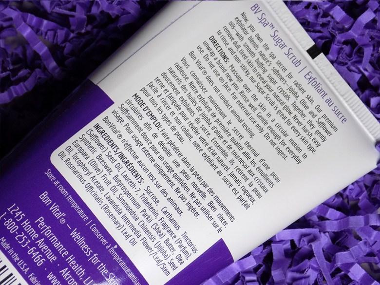 bvspa by bon vital sugar scrub lavender and rosemary instructionst
