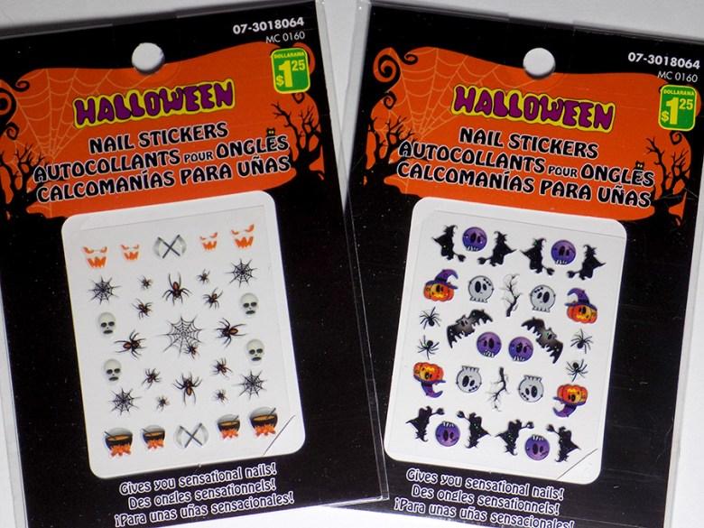 Cheap and Easy Halloween Nails From Dollarama Canada 2016 Halloween Nail Stickers