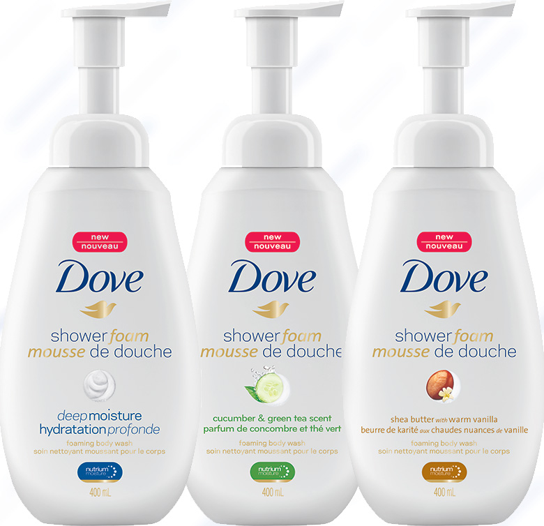Dove Shower Foam Canadian Scents