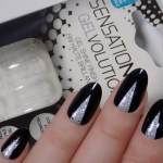 Sensationail Gelvolution Black & Silver Ballerina Nails