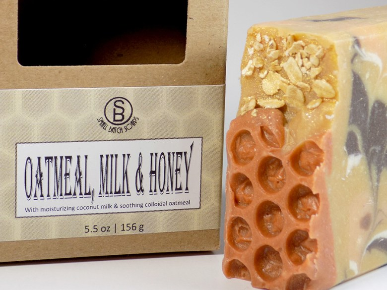 Small Batch Soaps - Canadian Indie - Oatmeal Milk and Honey Soap Review