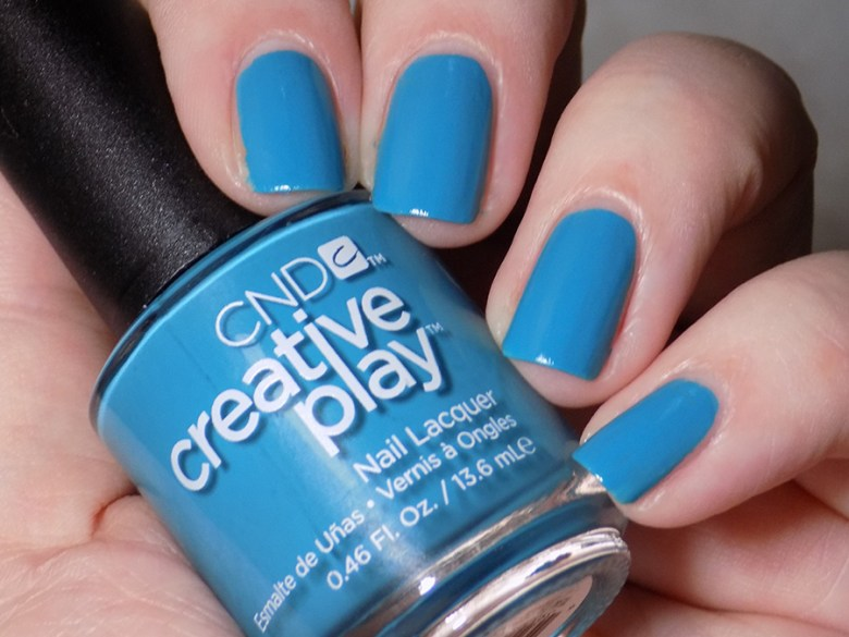 CND Creative Play Teal The Wee Hours from Sunset Bash Collection - Swatch Artificial Light
