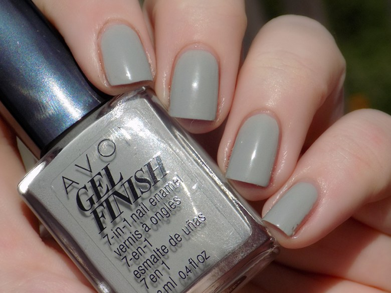 Avon Gel Finish Head In Clouds Nail Polish Swatch in Natural Sunlight