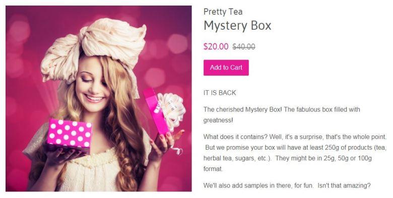 Pretty Tea Mystery Box Details