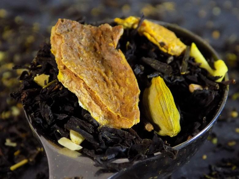 Ticked Tea Lemon Cookie Tea - Loose Leaf Macro