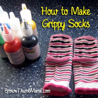 puffy paint slipper sock