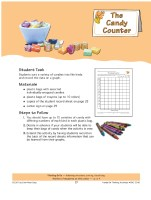 Halloween Candy Counter Center for graphing and data collection.