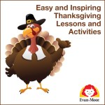Pilgrim turkey holding Thanksgiving lessons